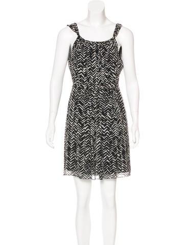 Burberry Brit Silk Mini Dress None