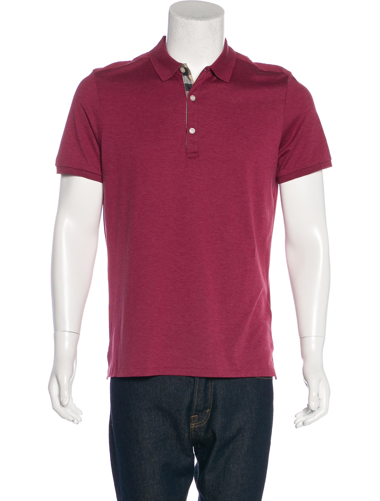 Burberry Brit Jersey Knit Polo Shirt Clothing Bbr28667