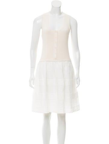 Burberry Brit Sleeveless Knee-Length Dress None
