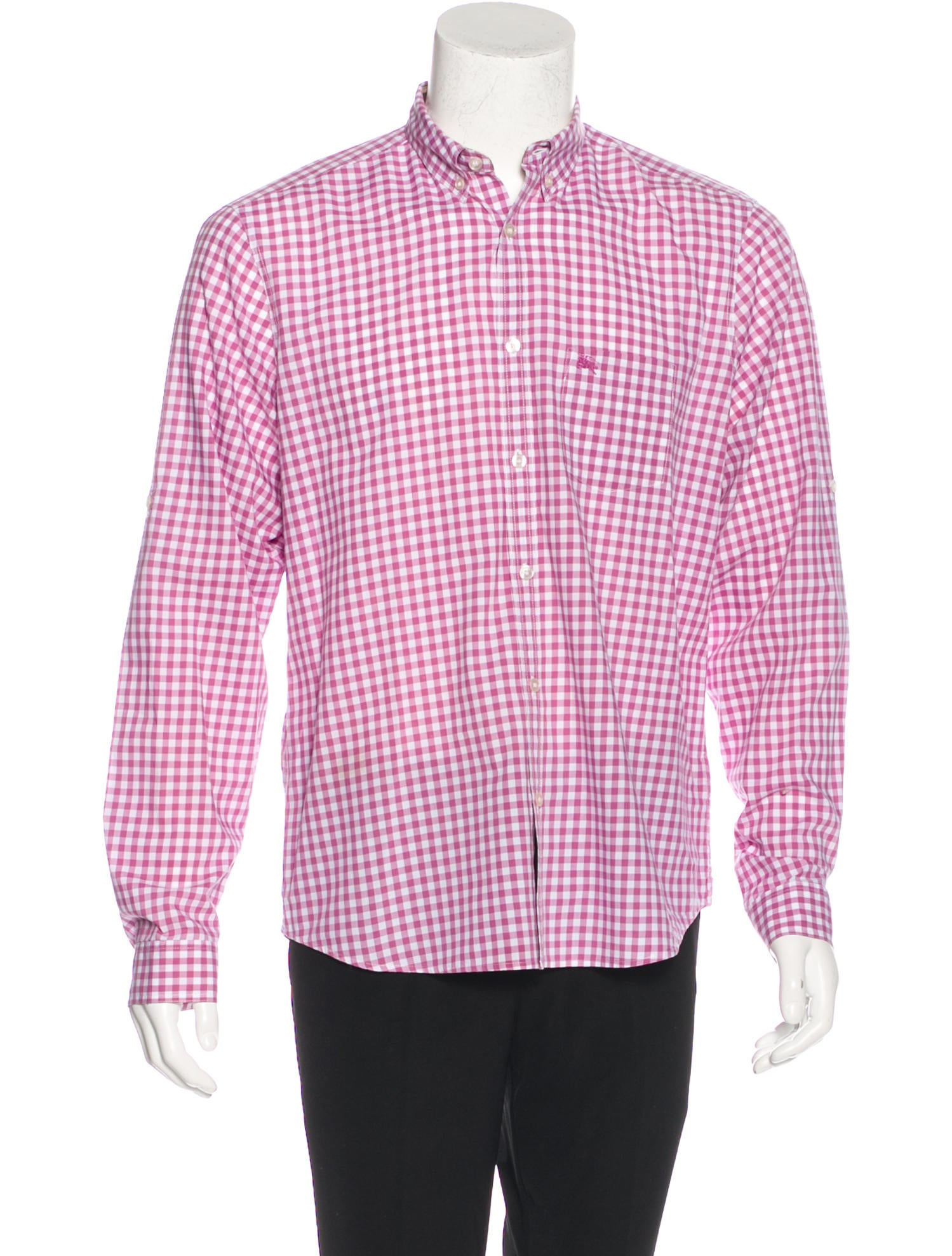 Burberry brit plaid embroidered shirt clothing for Burberry brit plaid shirt