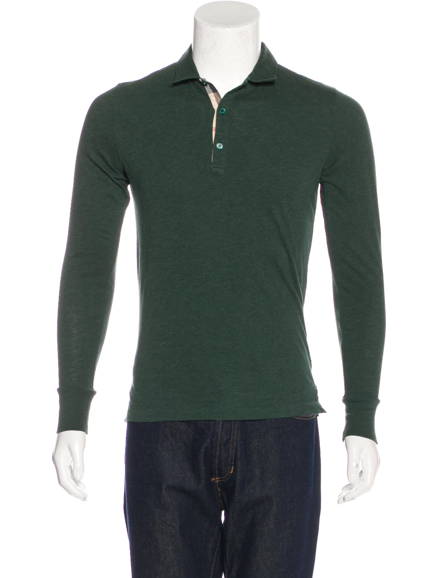 Burberry brit knit polo shirt mens shirts bbr28751 for Knitted polo shirt mens
