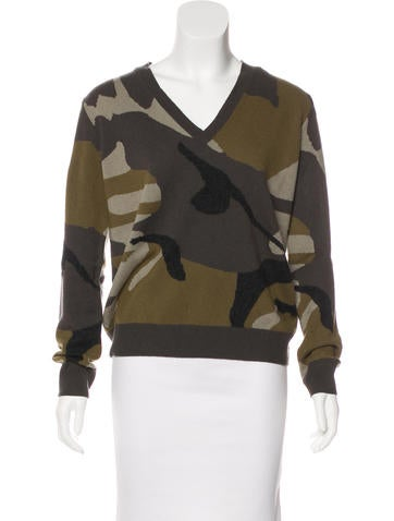 Burberry Brit Cashmere Camouflage Sweater None