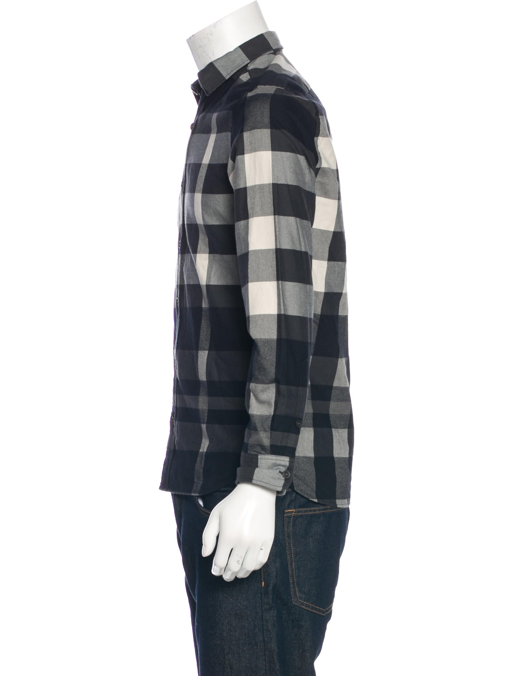 Burberry brit brushed plaid shirt clothing bbr28820 for Burberry brit green plaid shirt