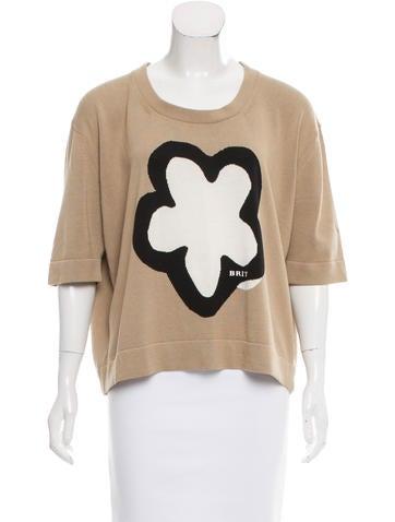 Burberry Brit Silk-Blend Intarsia Sweater None