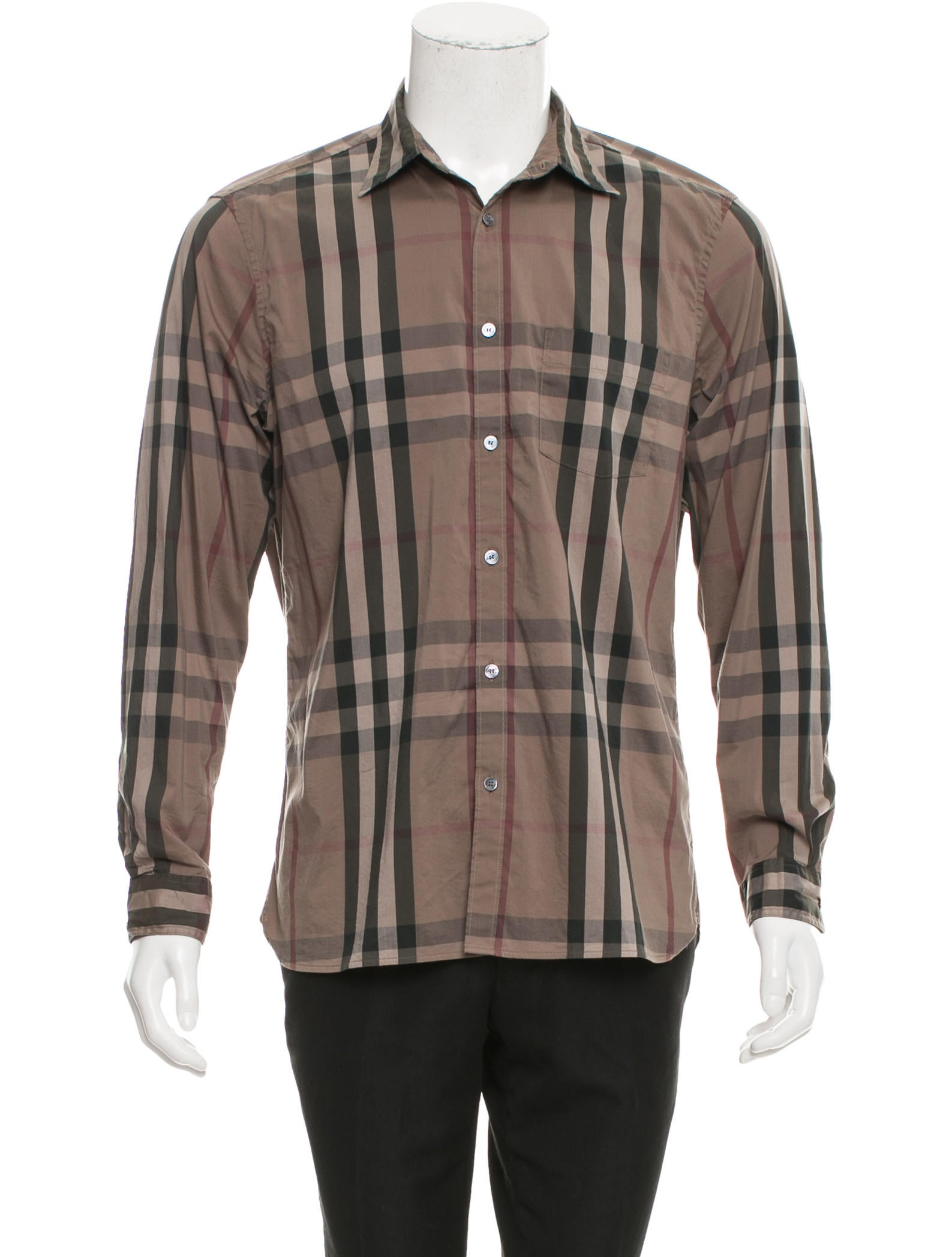 Burberry brit plaid button up shirt clothing bbr28959 for Burberry brit checked shirt