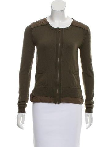 Burberry Brit Lightweight Zip-Up Sweater None