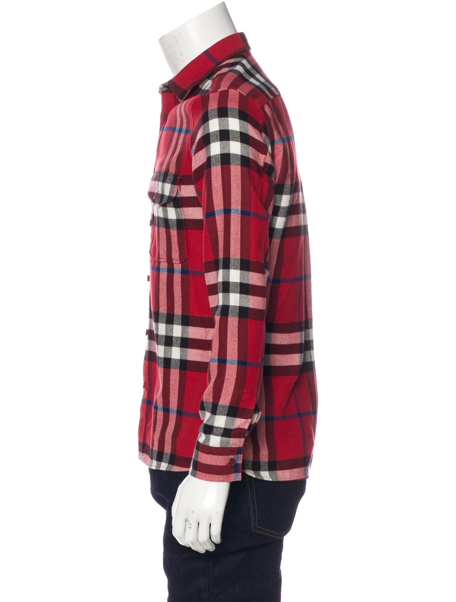 Burberry brit plaid flannel shirt clothing bbr29196 for Burberry brit checked shirt