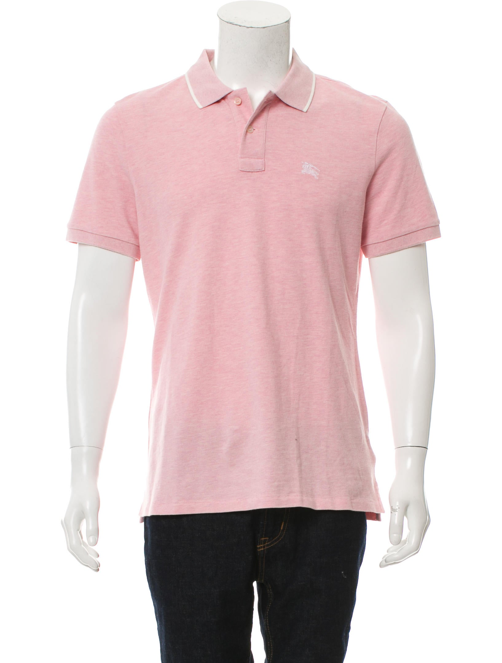 Burberry brit logo embroidered polo shirt clothing for Embroidered polo shirts online