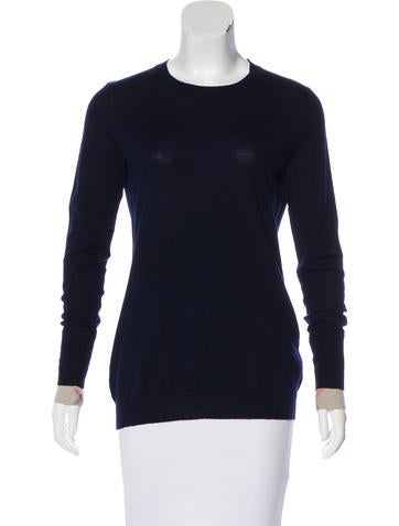 Burberry Brit Wool Nova Check-Trimmed Sweater None