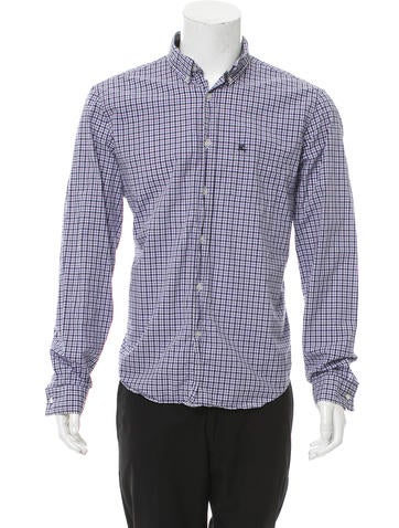 Burberry Brit Plaid Button Up Shirt Clothing Bbr29368