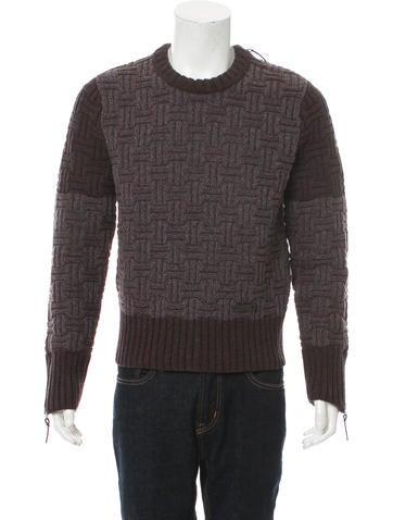 Burberry Brit Geometric Crew Neck Sweater None