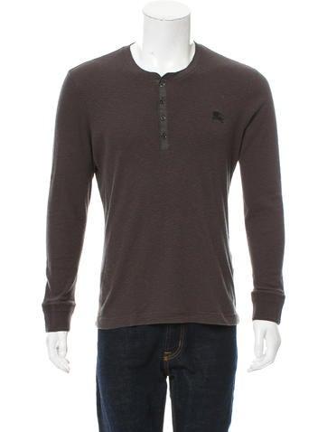 Burberry Brit Wool-Blend Knit Henley Shirt None