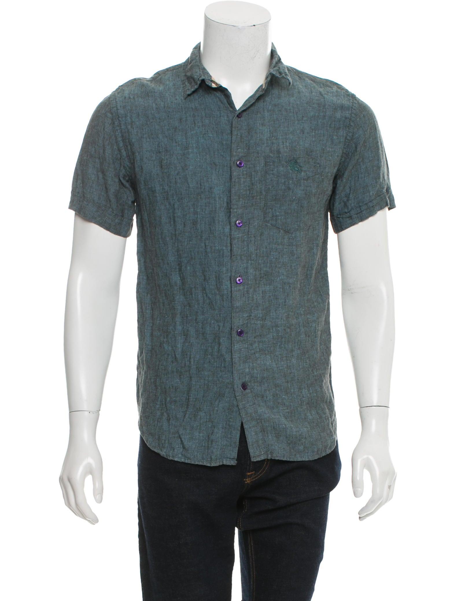 Burberry Brit Short Sleeve Button Up Shirt Clothing