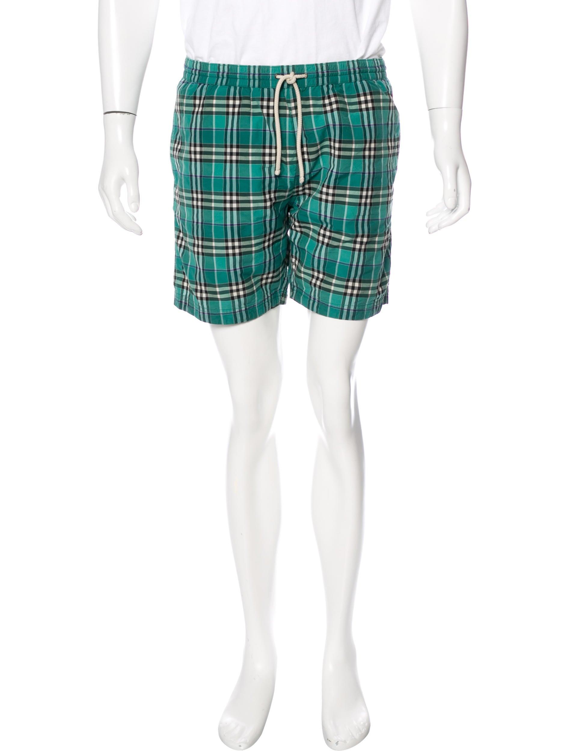 d8e041e2e1 Burberry Brit Nova Check Swim Trunks - Clothing - BBR29561 | The ...