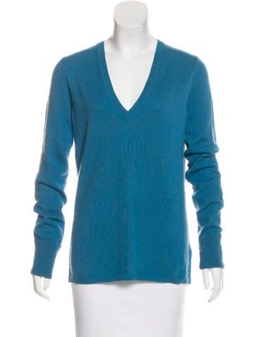 Burberry Brit Cashmere V-Neck Sweater None
