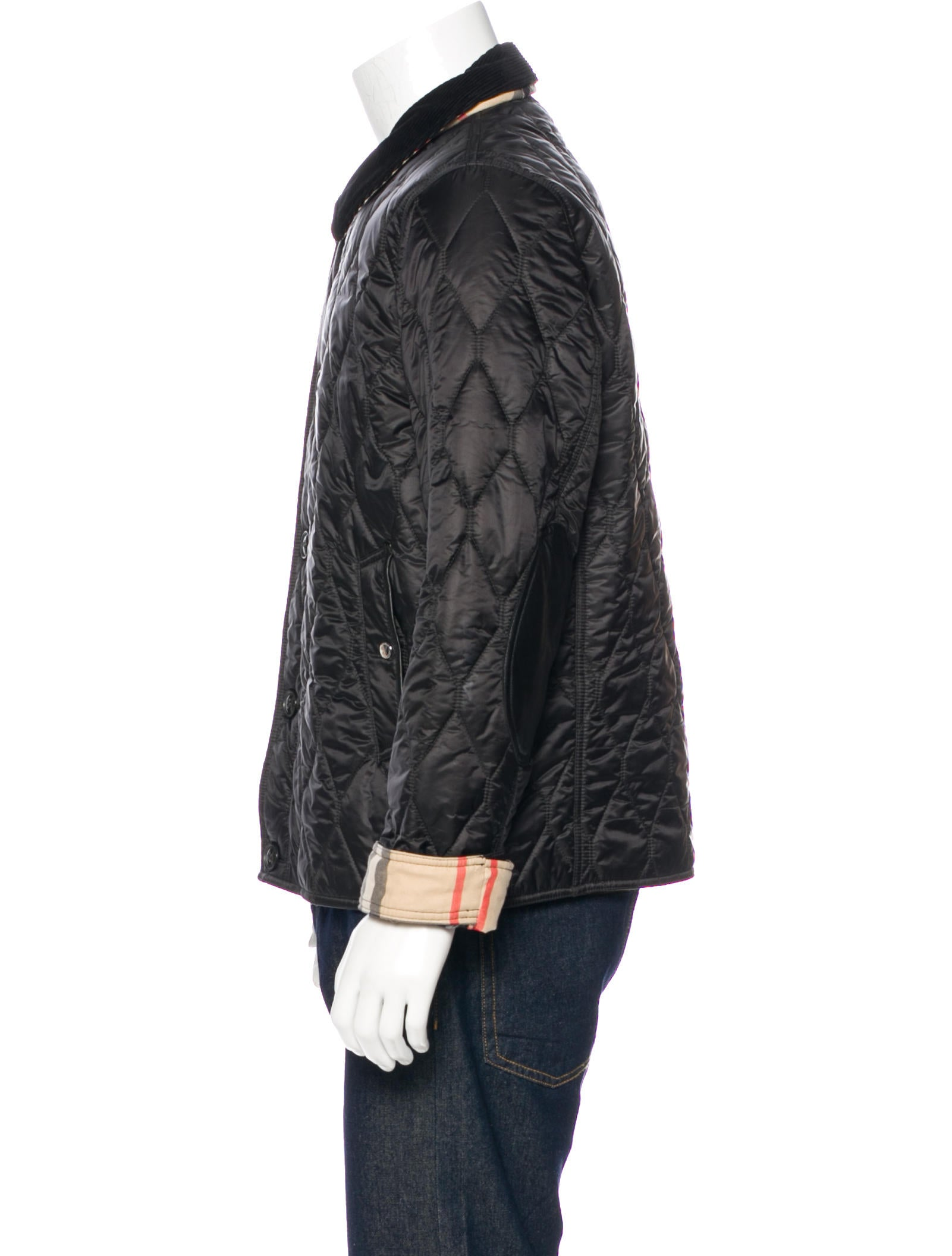 men jacket classic product brit galery scarves in black erieairfair for mens quilt quilted lyst burberry