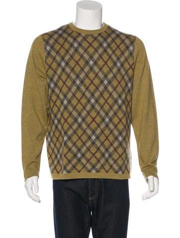 Burberry Brit Plaid Wool Sweater None