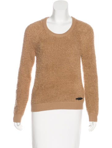 Burberry Brit Wool Fringe-Knit Sweater None
