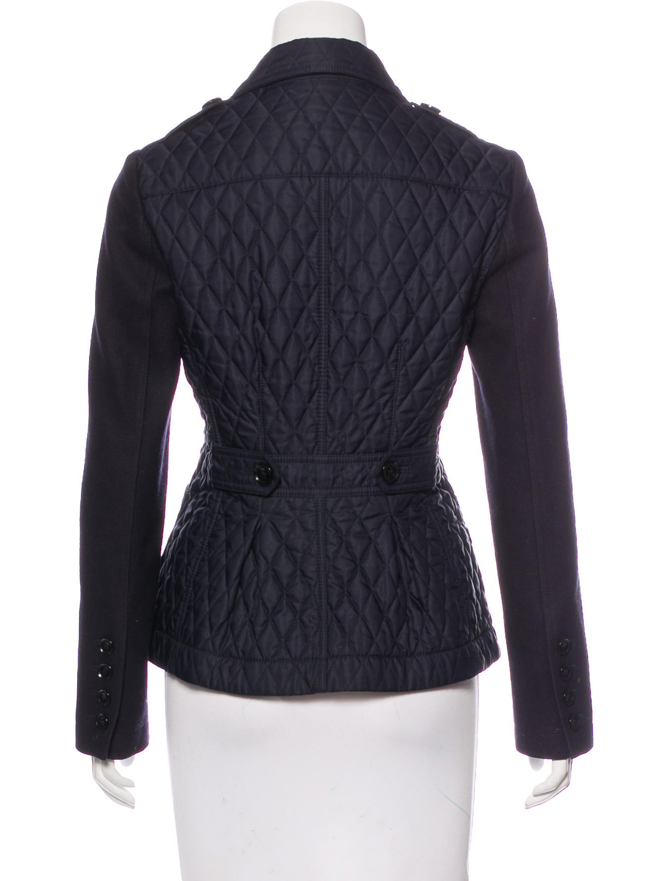 Burberry Brit Quilted Wool Paneled Jacket Clothing