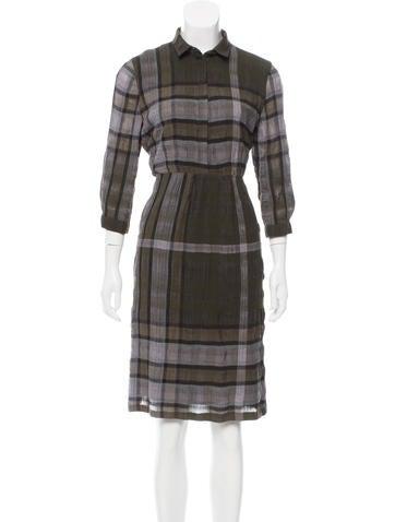 Burberry Brit Plaid Shirt Dress Clothing Bbr30768