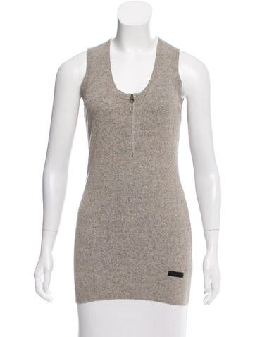 Burberry Brit Sleeveless Knit Top None