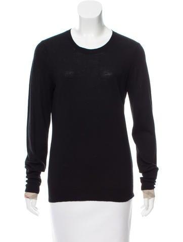 Burberry Brit Nova-Check Trimmed Lightweight Sweater None