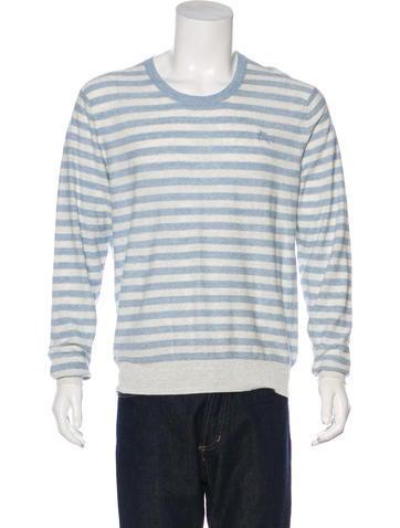 Burberry Brit Linen-Blend Striped Sweater None