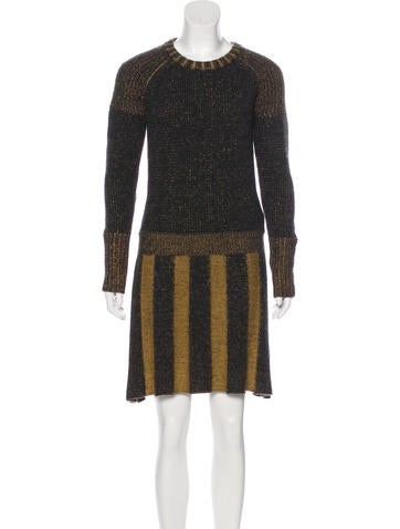 Burberry Brit Wool Knee-Length Dress None