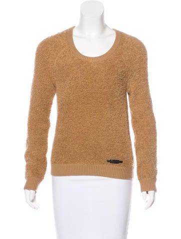 Burberry Brit Merino Wool Textured Sweater None