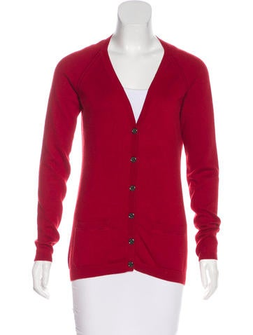 Burberry Brit V-Neck Long Sleeve Cardigan None