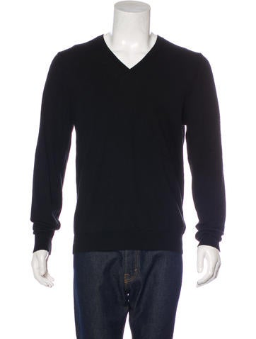 Burberry Brit Wool V-Neck Sweater None