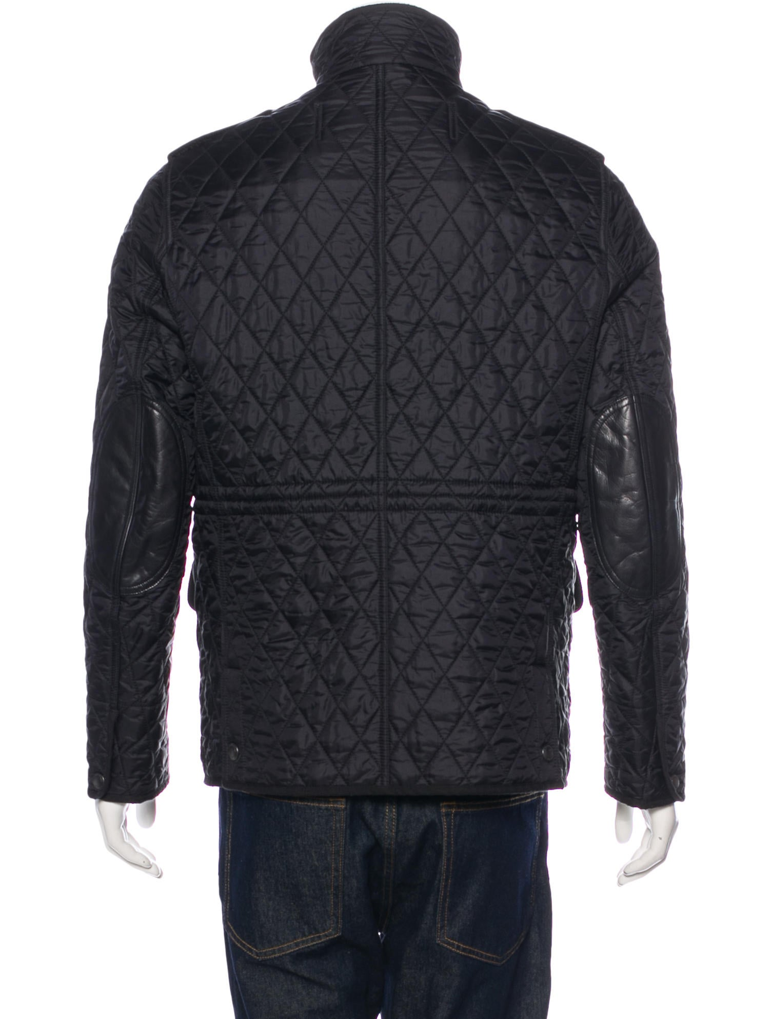 Burberry Brit Leather Trimmed Quilted Field Jacket Clothing