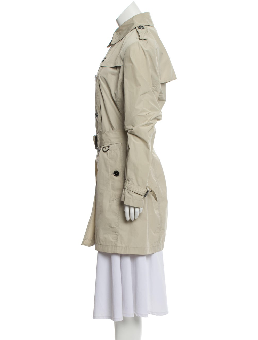 Burberry Brit Double-Breasted Trench Coat Beige - image 2