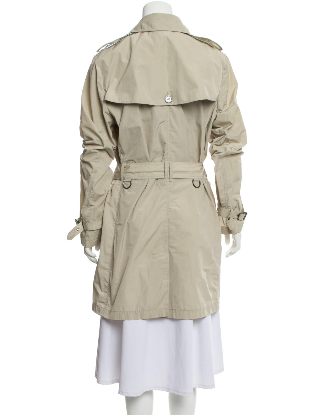 Burberry Brit Double-Breasted Trench Coat Beige - image 3