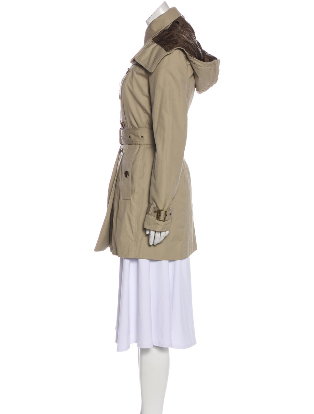 Burberry Brit Hooded Trench Coat Beige - image 2