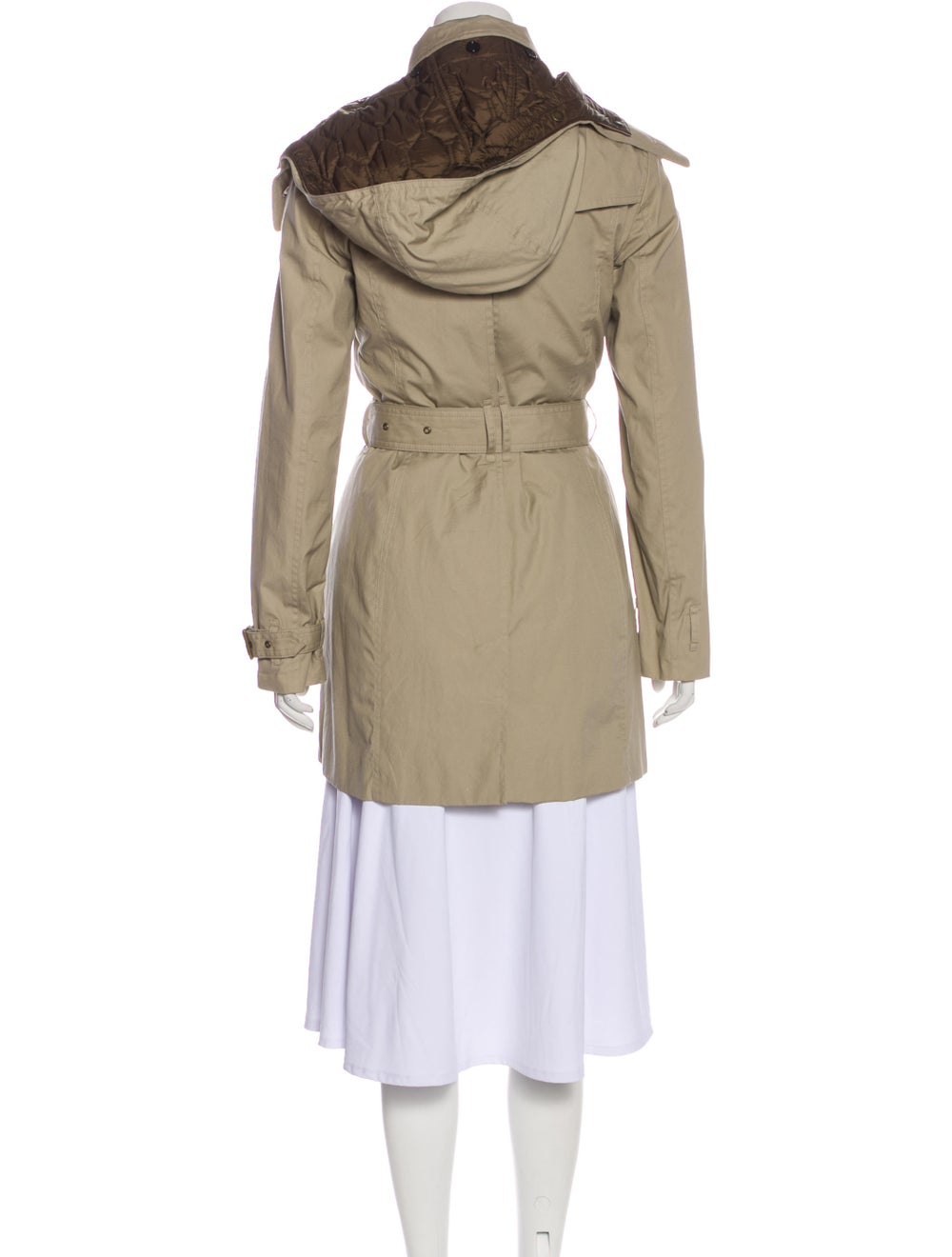 Burberry Brit Hooded Trench Coat Beige - image 3