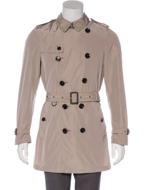 Burberry Brit Double-Breasted Trench Coat beige