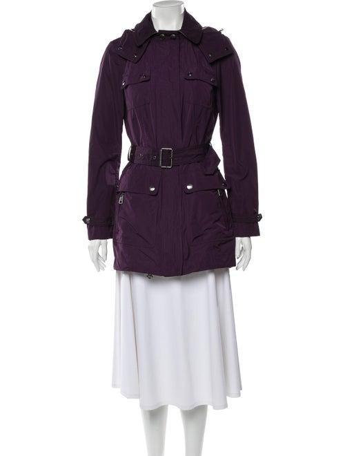 Burberry Brit Trench Coat Purple