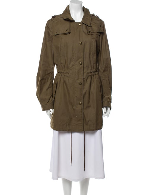 Burberry Brit Trench Coat Green