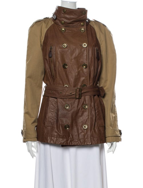 Burberry Brit Leather Trench Coat