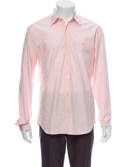 Burberry Brit Long Sleeve Dress Shirt Pink