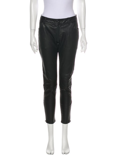 Burberry Brit Leather Skinny Leg Pants Black