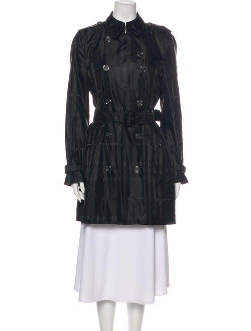 Burberry Brit Printed Trench Coat Black