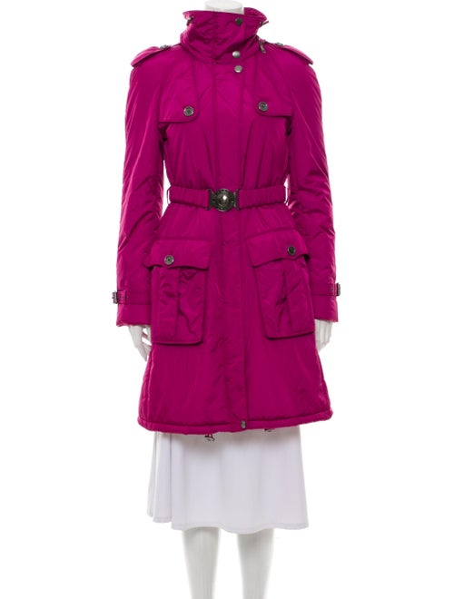 Burberry Brit Trench Coat Purple