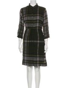 Burberry Brit Plaid Print Knee-Length Dress w/ Tags