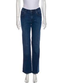 Burberry Brit Mid-Rise Wide Leg Jeans
