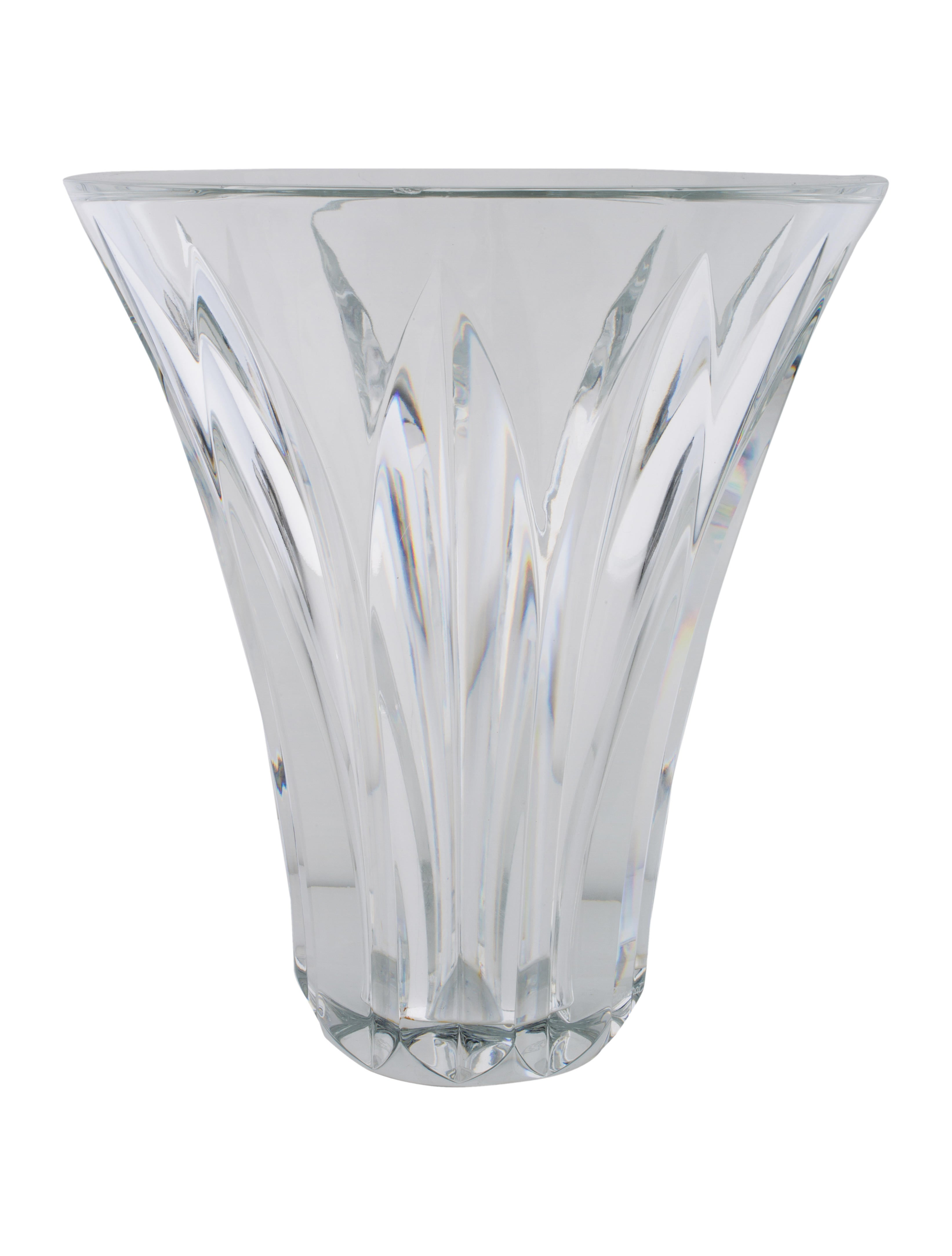 Baccarat crystal flared vase decor and accessories Crystal home decor