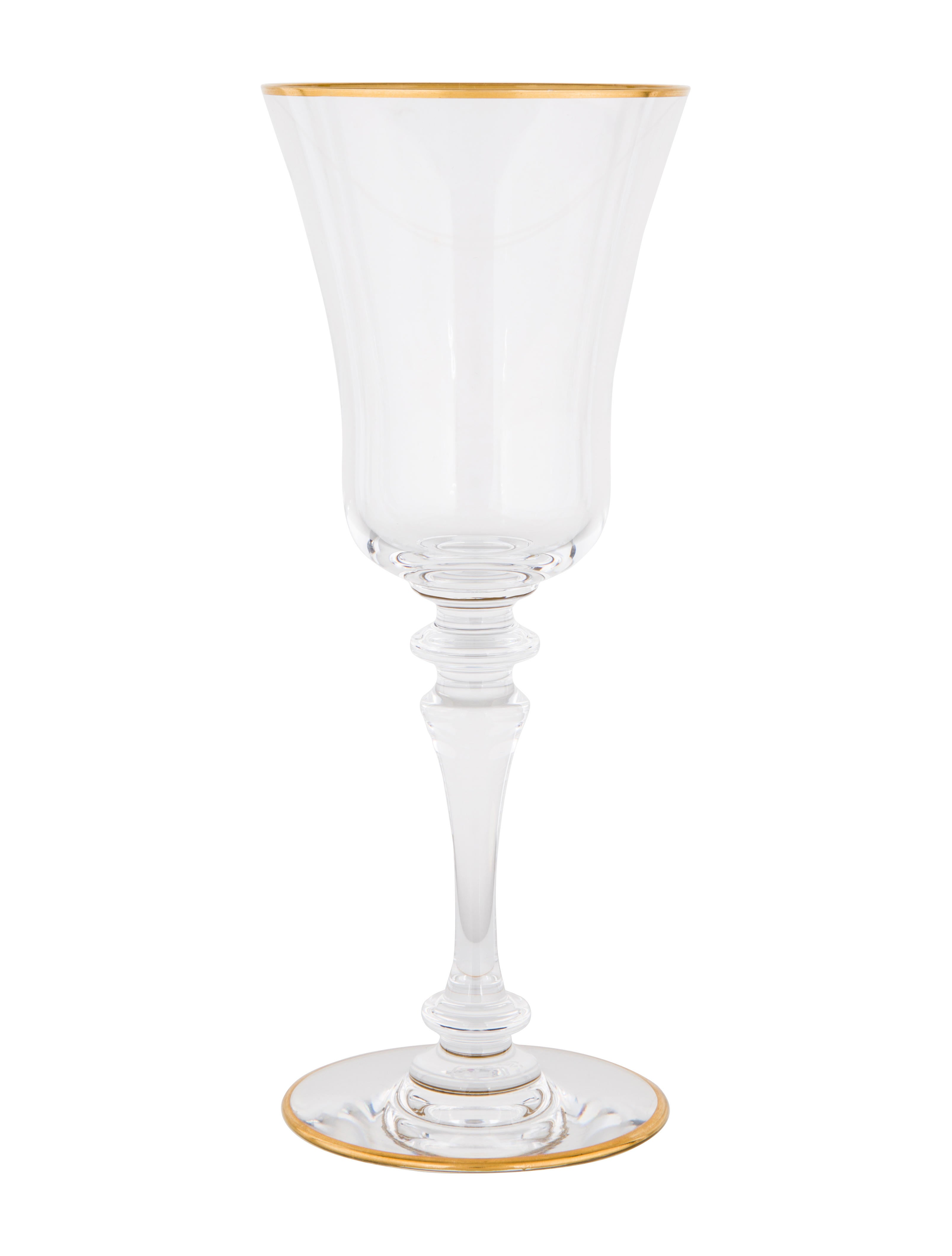 Baccarat crystal vienne gold claret glasses tabletop and kitchen bcc23239 the realreal - Baccarat stemware ...