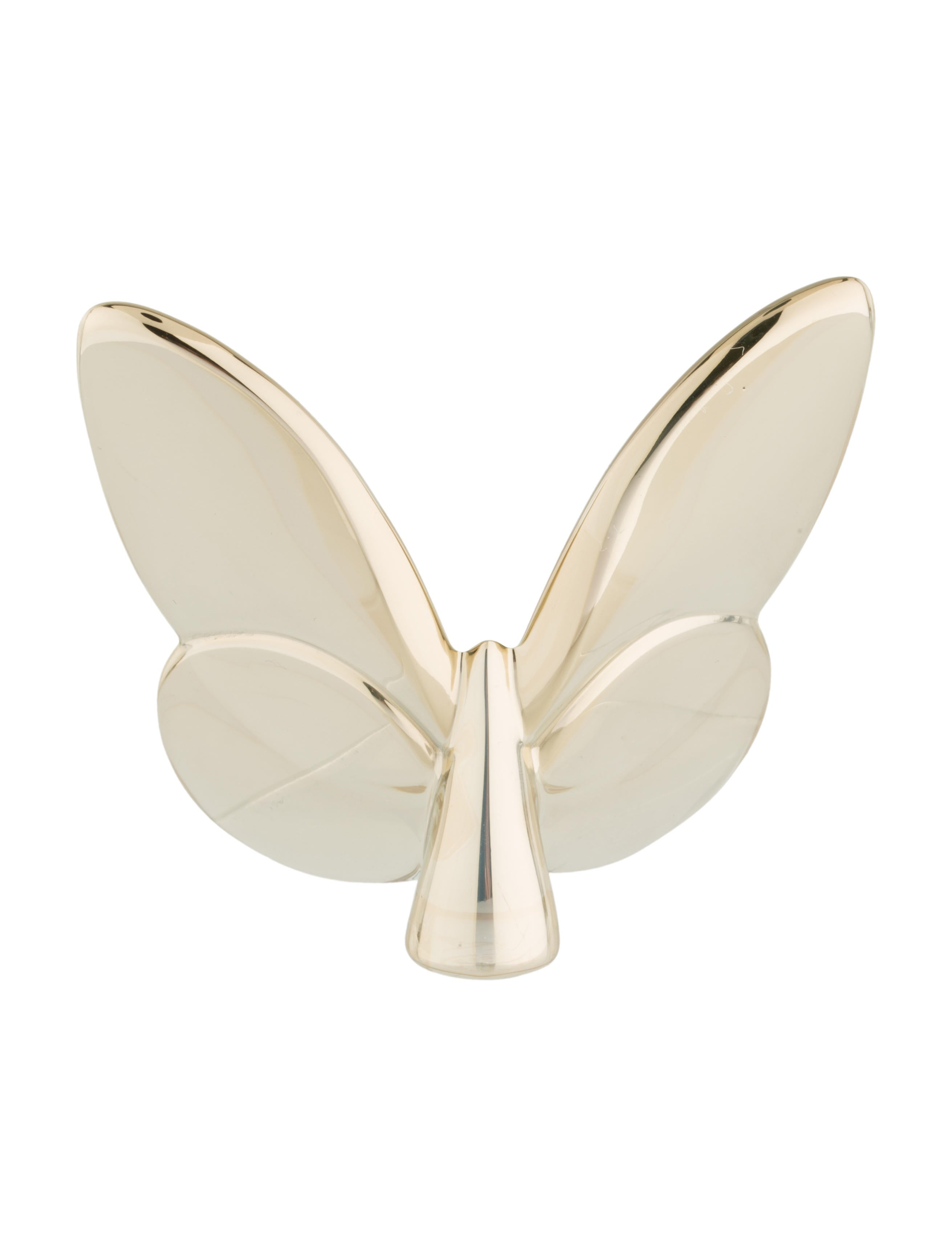 Baccarat lucky gold papillon decor and accessories bcc23413 the realreal - Gold home decor accessories paint ...