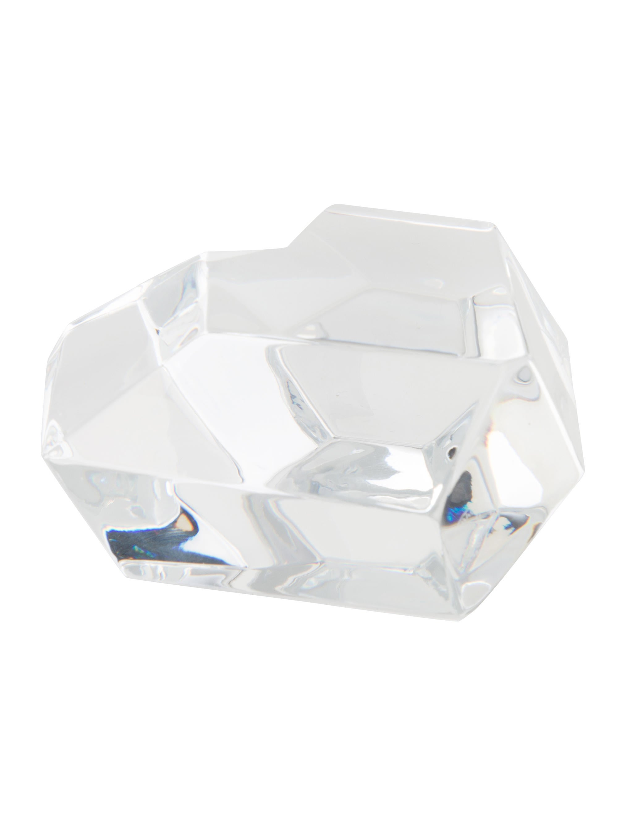Baccarat crystal heart paperweight decor and accessories Crystal home decor